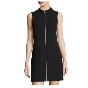 1.State Black Zipper Sheath Dress